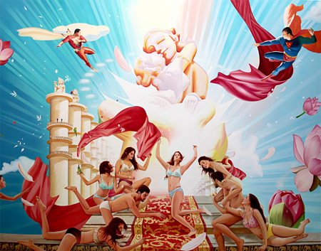 トゥクラール&タグラ Thukral & Tagra Science, Mystery, Magic, Myth 1, 2011 Oil on canvas 84