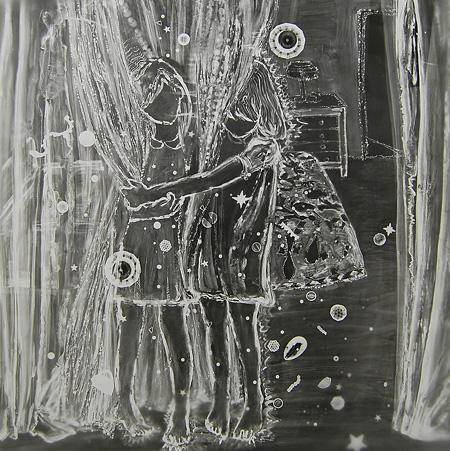 ©Saori Miyake「カーテン、ベッドルーム、ドア」2009 gelatine silver print 80x80cm
