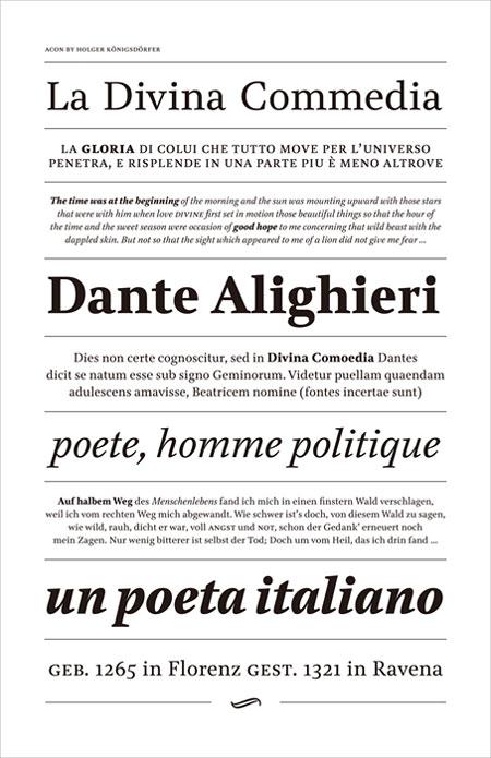 タイプデザイン賞 Holger Königsdörfer(ドイツ) : 「Acon, a typeface for book typography」