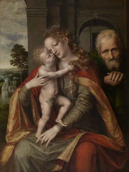 ヤン・マセイス《聖家族》1563年 アントワープ王立美術館蔵 © Lukas - Art in Flanders VZW / Royal Museum of Fine Arts Antwerp