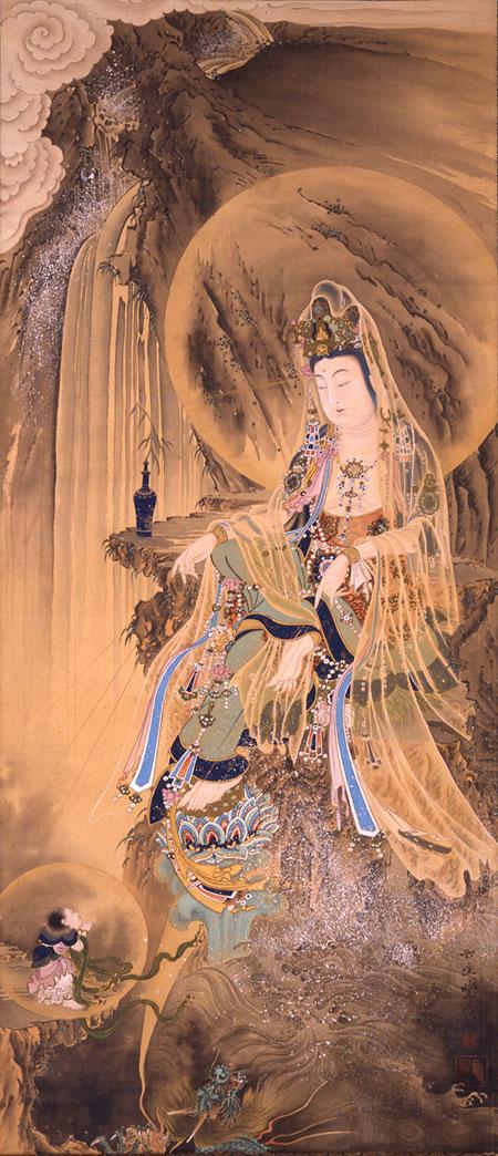 河鍋暁斎《慈母観音像》1883年頃 財団法人 日本浮世絵博物館蔵