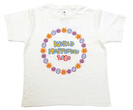 ワールドハピネス2010の公式Tシャツ 表