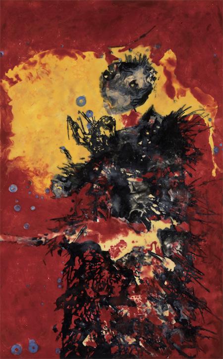 2010 ロウ、オイルパステル、キャンバス、パネル 134.3×84.2cm © TSUTSUI Shinsuke Courtesy Mizuma Art Gallery