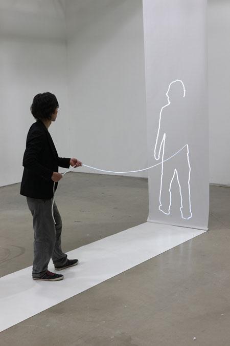 細谷宏昌+佐藤雅彦「Outline to go」photo:田村友一朗