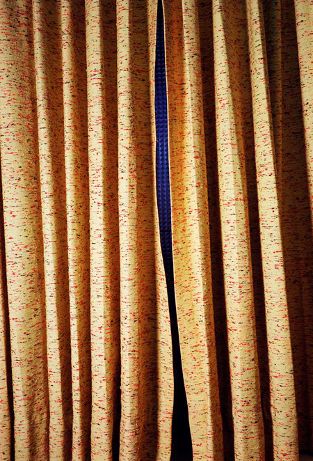Untitled (Curtains, Slit, Norman Petty Studio, New Mexico) 2004 Pigment print  71.1 x 55.9 cm © Eggleston Artistic Trust.  Courtesy Cheim & Read, New York