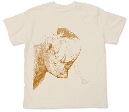 こざき亜衣「ride on rhino」Tシャツ