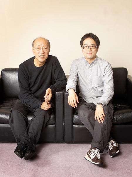 左:蜷川幸雄、右:松井周 Photo:アポロ創研・平田光二