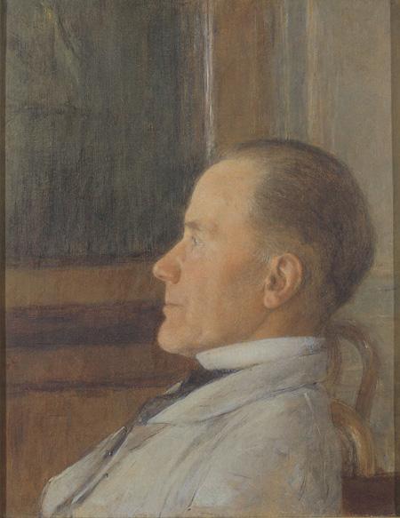フェルナン・クノップフ 《エドモン・クノップフの肖像》 油彩, キャンヴァス 1881年頃