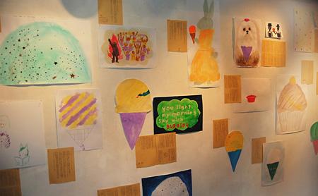 『アイスクリームの百物語』2008 アクリル絵具、画用紙、色上質紙