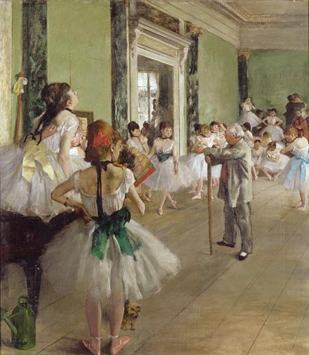 エドガー・ドガ ≪バレエの授業≫ 1873-76年 オルセー美術館 ©RMN(Musée d'Orsay)/Hervé Lewandowski/distributed by AMF-DNPartcom