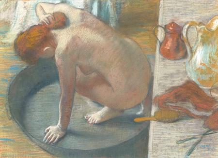エドガー・ドガ ≪浴盤(湯浴みする女)≫ 1886年 オルセー美術館 ©RMN(Musée d'Orsay)/Hervé Lewandowski/distributed by AMF-DNPartcom