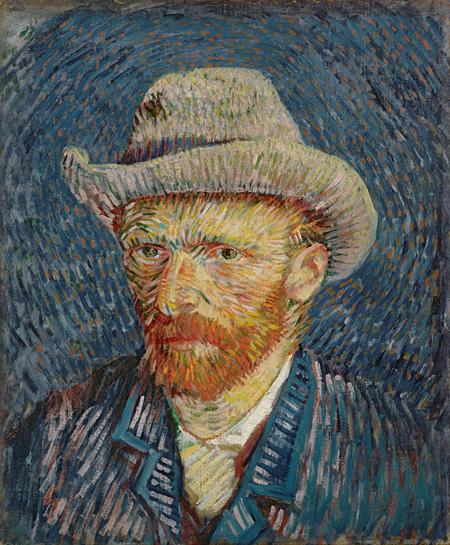 フィンセント・ファン・ゴッホ 灰色のフェルト帽の自画像 1887年 ファン・ゴッホ美術館(フィンセント・ファン・ゴッホ財団) ©Van Gogh Museum, Amsterdam (Vincent van Gogh Foundation)