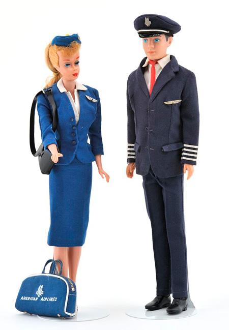 バービー&ケン セット Barbie American Airlines Stewardess & American Airlines Captain KEN ©2010Mattel,Inc.All Rights Reserved.