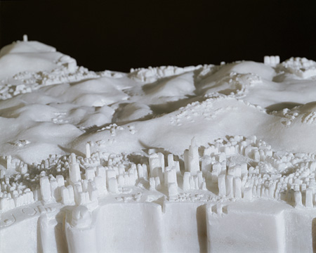 Hong Kong Island (Chinese) (detail) / 1998 / Carved marble / 65 x 120 x 80 cm Courtesy the artist and David Zwirner, New York