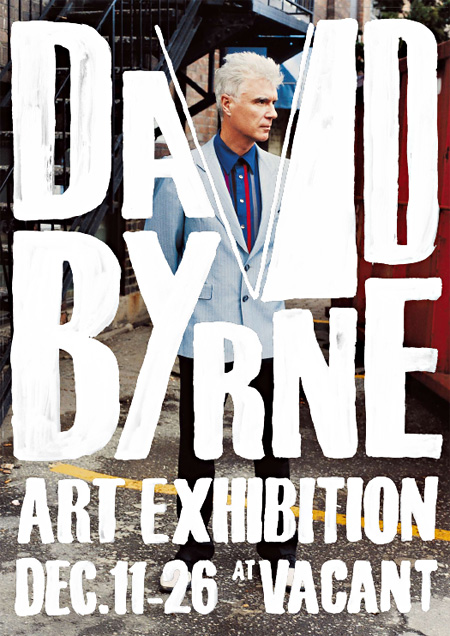 『DAVID BYRNE ART EXHIBITION』フライヤー