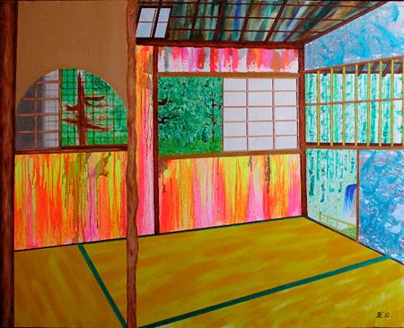 「新日本画(お茶室)」2010年 油彩 80.3×100 cm