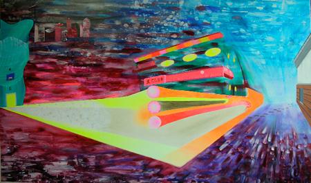 「新日本画(東京)」2008年 油彩 97×162 cm
