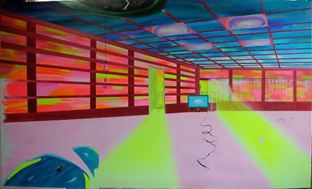 「美人画」2009年 油彩 97×162 cm