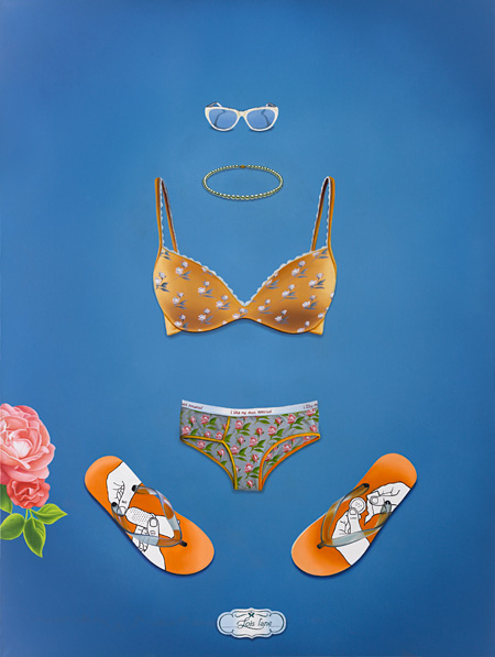"トゥクラール&タグラ Thukral & Tagra『ESSENTIALS(CLARK KENT & LOIS LANE 2)』 2011 Oil on canvas 48"" x 36"" x 3""(123 x 91.5x 7.5cm) 2 piece set"