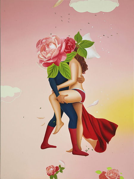 "トゥクラール&タグラ Thukral & Tagra『Fiction Love #VI』2011 Oil on canvas 48"" x 36"" each(122 x 92cm)"