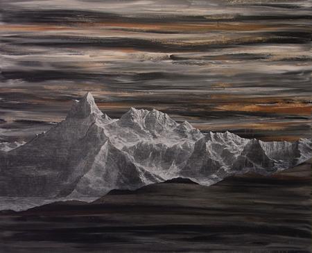 藤原康博  Yasuhiro Fujiwara [MORI YU GALLERY] Mountain09037 2009 97×162cm acrylic on canvas ©Yasuhiro Fujiwara courtesy of MORI YU GALLERY