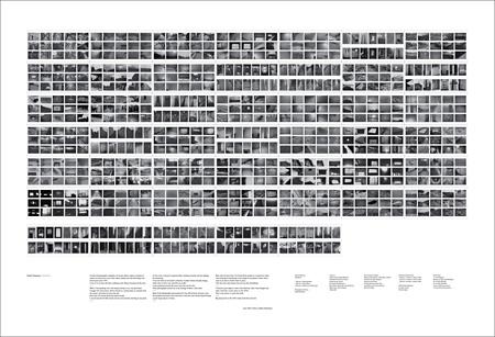川俣正作品集『フィールド・スケッチ』に付属する『川俣正:フィールド・スケッチ』を俯瞰できるポスター大のダイヤグラム