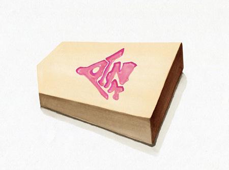 ▲2三銀成△3二玉▲同ピンク/大日本タイポ組合(東京女子プロジェクト提供)