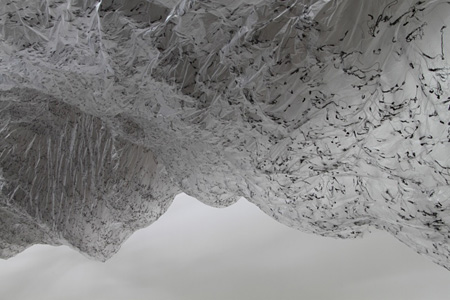 大西康明《体積の裏側》(部分) 2010年 グルー、ポリエチレンシート、その他