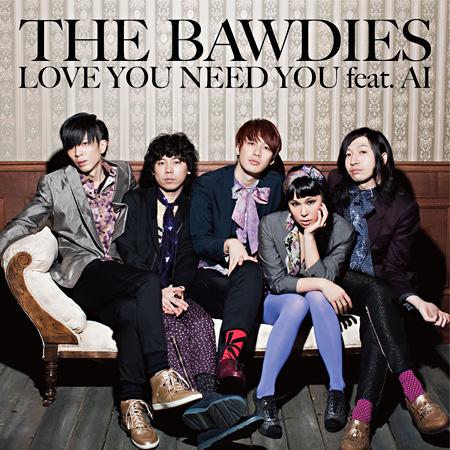 THE BAWDIESがAIをボーカルに迎えてのニューシングル、5人でのジャケ写も公開