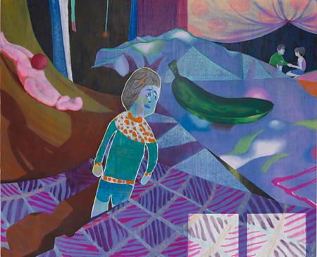 伊藤 彩 ≪ゾンビも恋をする≫ 2010 油彩、カンヴァス 180.3x220.6cm 小山登美夫ギャラリー
