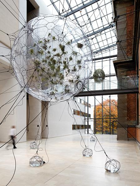 Installation views Tomas Saraceno: Biospheres, Statens Museum Kunst, Copenhagen, Denmark, 2009-2010 Courtesy the artist and Tanya Bonakdar Gallery, New York, NY