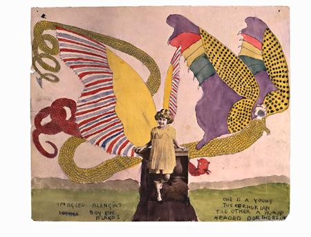 『キラキラ輝くブレンゲン。ボイ・キング・アイランズ。一匹は年若いタスカホリアン、もう一匹は人の頭をしたドロテリアン』(Collection of Kiyoko Lerner ©Kiyoko Lerner,2011)