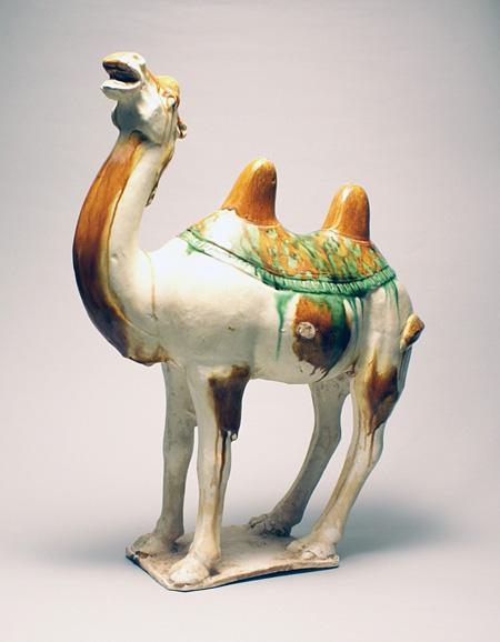 唐 三彩駱駝俑 唐時代 8-9世紀 H.39.0cm 径30.0cm