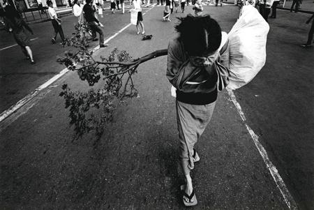 東松照明「街路樹を演じる土方巽」1970 ©東松照明 Courtesy of MISA SHIN GALLERY