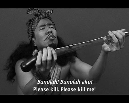 ミン ウォン「Four Malay Stories」 ビデオ オーディオ インスタレーション 2005 年
