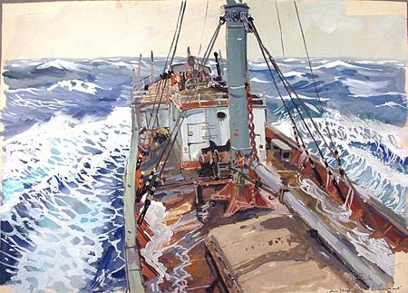 「フードロワイヤン号」 1948年 © Atelier Frédéric Back Inc.