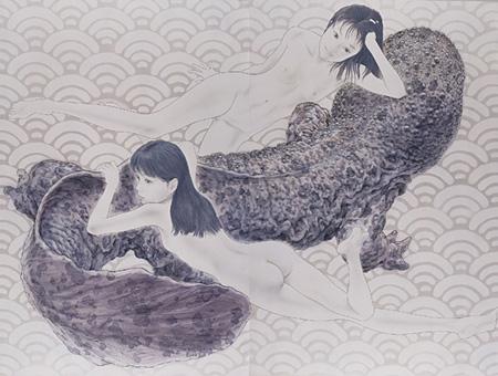 会田誠『大山椒魚』 2003 撮影:木奥恵三 高橋コレクション蔵 ©AIDA Makoto Courtesy Mizuma Art Gallery