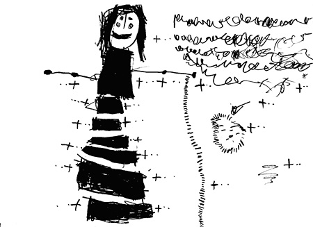 子どもたちが描いた「階段の声」