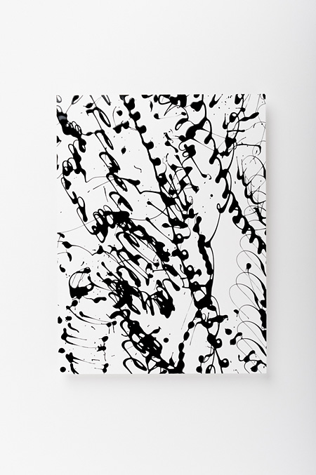 Kohei Nawa Line Fragment #22 2008 h.33.7 x w.25.7 x d.2.5 cm acrylic on paper