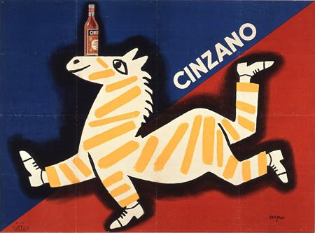 チンザノ Cinzano 1951 リトグラフポスター サントリーポスターコレクション ©Raymond Savignac