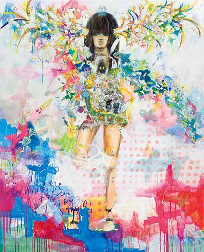 「ワタシ達のnew spirit」2011年 / 1620×1303mm / ミクストメディア