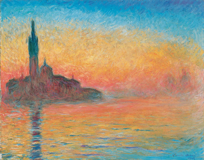 クロード・モネ 《黄昏、ヴェネツィア》
