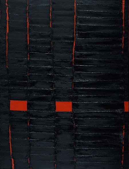堂本尚郎《連続する溶解9》1964年 、石橋財団ブリヂストン美術館