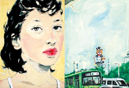 「一緒にしたり、別々にしたり」2011, acrylic on canvas. ©Tomoko Yamaguchi