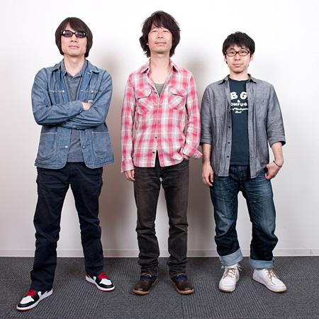 左からYO-KING(真心ブラザーズ)、桜井秀俊(真心ブラザーズ)、小山宙哉