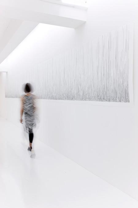"""90106 Burst Helevetica 2"" Exhibition ''3331 Presents TOKYO: Part 1'' at 3331 Arts Chiyoda, Jun. 26 - Jul.25, 2010 ©Hideki Inaba"