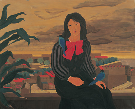 遥か(青い鳥) A Far 1978 ©軽井沢千住博美術館 ©HIROSHI SENJU MUSEUM KARUIZAWA