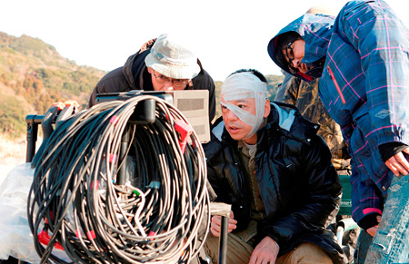 メイキングシーン ©2011「月光ノ仮面」製作委員会