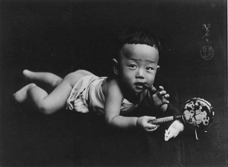 愛い子 黒川翠山1906-1910年頃 ゼラチン・シルバー・プリント