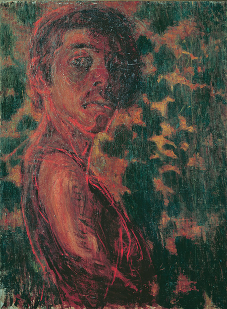 《自画像》1903年、石橋財団石橋美術館